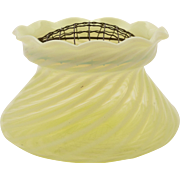 Yellow Vaseline Glass Posey Vase, Circa 1900