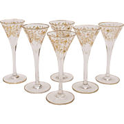 Set of 6 French Liqueur Glasses, Circa 1905