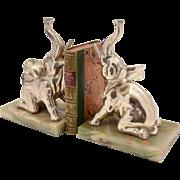 Pair of Art Deco Elephant Bookends, Circa 1930