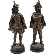Large Pair of French Spelter Figures, Circa 1890