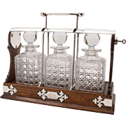 Victorian Three Bottle Tantalus, Circa 1890