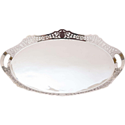 Edwardian Oval Silver Plated Gallery Tray, Circa 1905