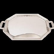 Edwardian Silver Plated Hexagonal Tray, Circa 1905