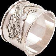 Chinese Canton Silver Napkin Ring, Circa 1900