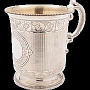 Victorian Half Pint Silver Tankard, London 1864