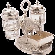 Victorian Silver Plated Novelty Cruet, Circa 1869