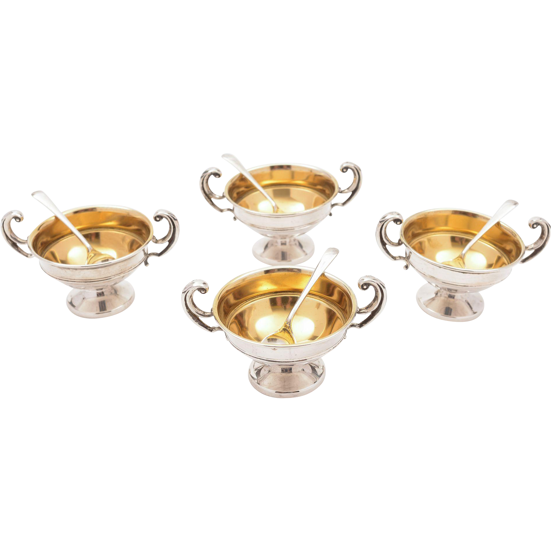 Set of 4 Silver Trophy Salts, Birmingham 1929