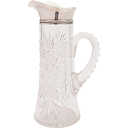 American Silver Topped Jug/Pitcher, 1905