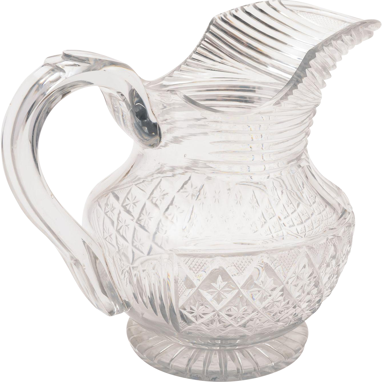 Georgian Cut Glass Jug/Pitcher, Circa 1810