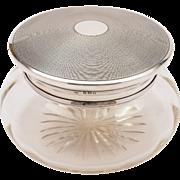 Art Deco Silver Topped Jar, London 1922