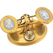 Asprey Brass Gilt and Jasperware Postal Scales, Circa 1870