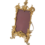 Victorian Gilt Brass Photo Frame, Circa 1890