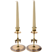 Pair of Victorian Brass/Bronze Candlesticks, Circa 1880