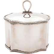 Edwardian Silver Plated Tea Caddy, Circa 1905