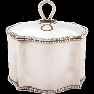 Edwardian Silver Plated Tea Caddy, Circa 1905