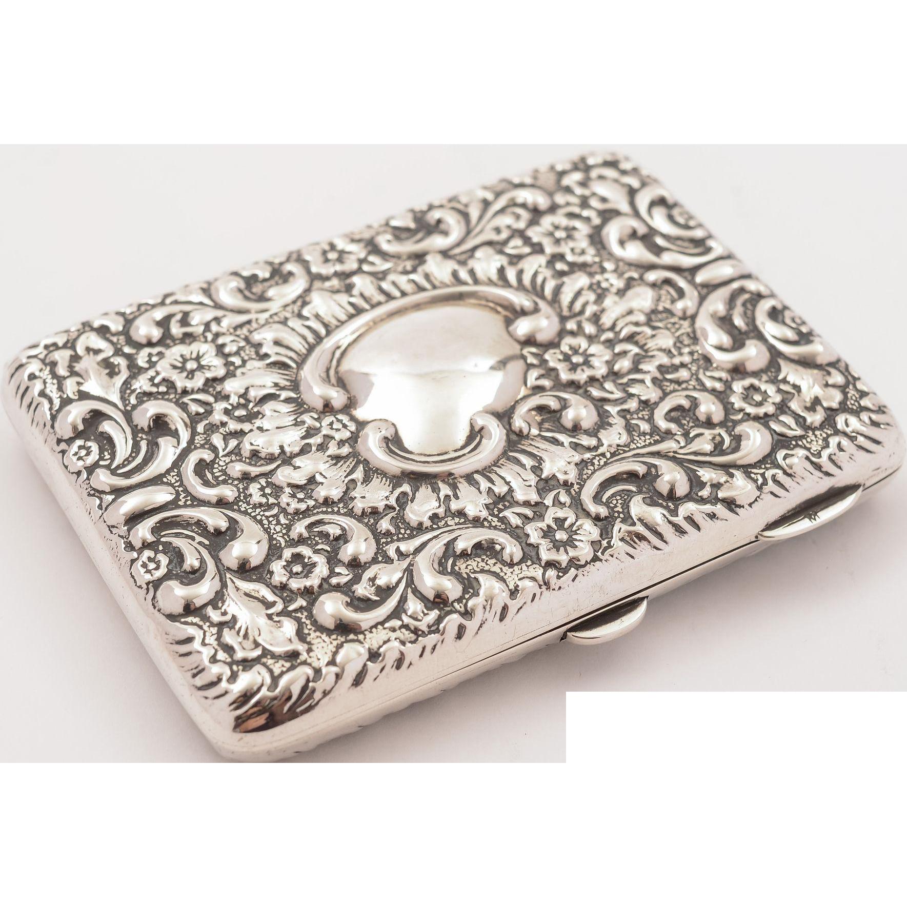 Edwardian Silver Card Case/Aide Memoire, Chester 1906