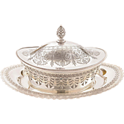 Victorian Silver Plated Butter Dish, Circa 1890