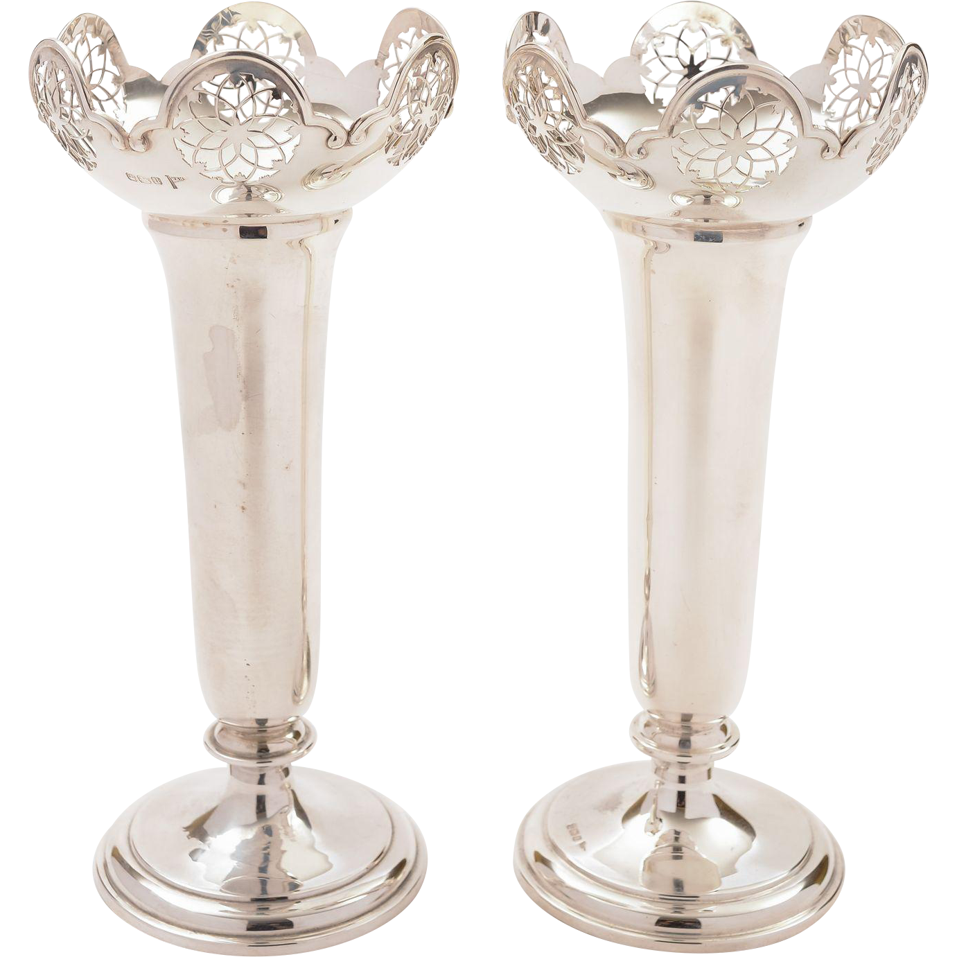 Pair of Silver Vases, Sheffield 1911