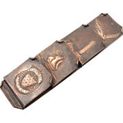 Arts & Crafts Copper Letter Rack, Circa 1900