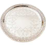 Christofle Silver Plated Salver/Tray, Circa 1900