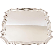 Art Deco Silver Plated Salver/Tray, Circa 1930