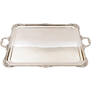 Large Victorian Silver Plated Serving Tray, Circa 1890