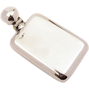 Edwardian Elkington Silver Hip Flask, London 1902