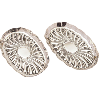 Pair of Small Victorian Silver Trays, London 1890
