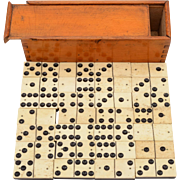Edwardian Bone and Ebony Dominoes, Circa 1905
