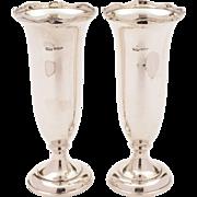 Pair of Art Deco Silver Vases, Birmingham 1929