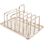 Victorian Silver Plated Toast Rack, May 1881