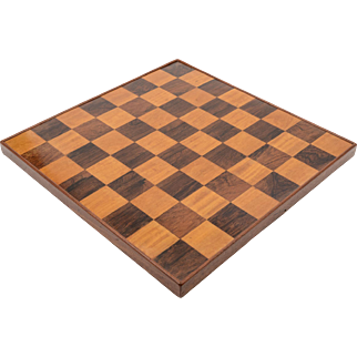 Edwardian Wooden Chess Board, Circa 1905