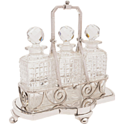 Victorian 3 Bottle Decanter Stand, Circa 1890