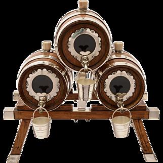 Victorian 3 Barrel Spirit Dispenser, Circa 1880