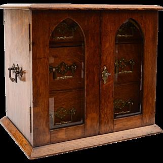 Victorian Oak 3 Drawer Cabinet, Circa 1890
