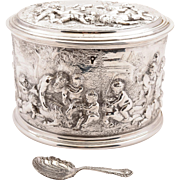 Grand Victorian Silver Plated Tea Caddy, Circa 1870