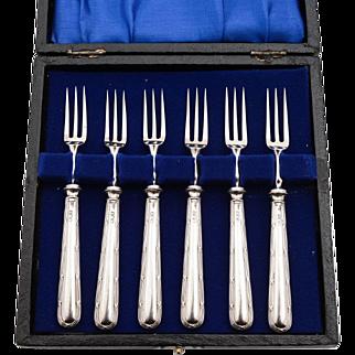Silver Handled Cake Forks, London 1930