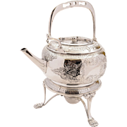 Victorian Tea kettle on Stand, Circa 1880