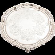 Victorian Silver Plated Salver/Tray, Circa 1890