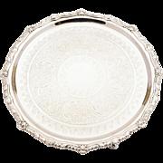 Victorian Silver Plated Salver/Tray, Circa 1880