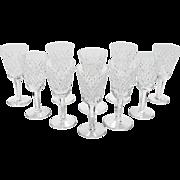 Set of 10 Vintage Waterford Crystal Port Glasses, Circa 1980