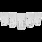 Set of 5 Three Quarter Pint Cut Glass Tumblers, Circa 1910