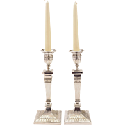 Pair of Edwardian Elkington Candlesticks, 1902