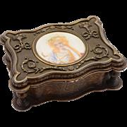 French Brass Jewellery Casket, Circa 1880