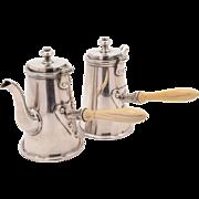 Pair of Cafe Au Lait Pots, Circa 1900