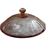 Jeannette Glass Company Depression Glass Lid Floral Pattern
