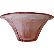 Pink Princess Depression Glass Bowl by Hocking Glass Co. 1931 - 1935