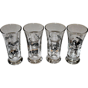 Libbey Glass Mid-Century Tall Shots