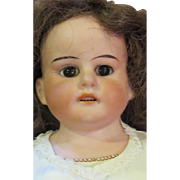 """14"""" Antique German Bisque Doll Marked 1901 on Great Gussetted Kid Body w/Bisque Hands"""