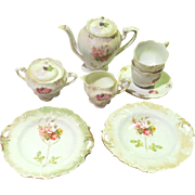 Lovely Antique Child's Porcelain German Teaset